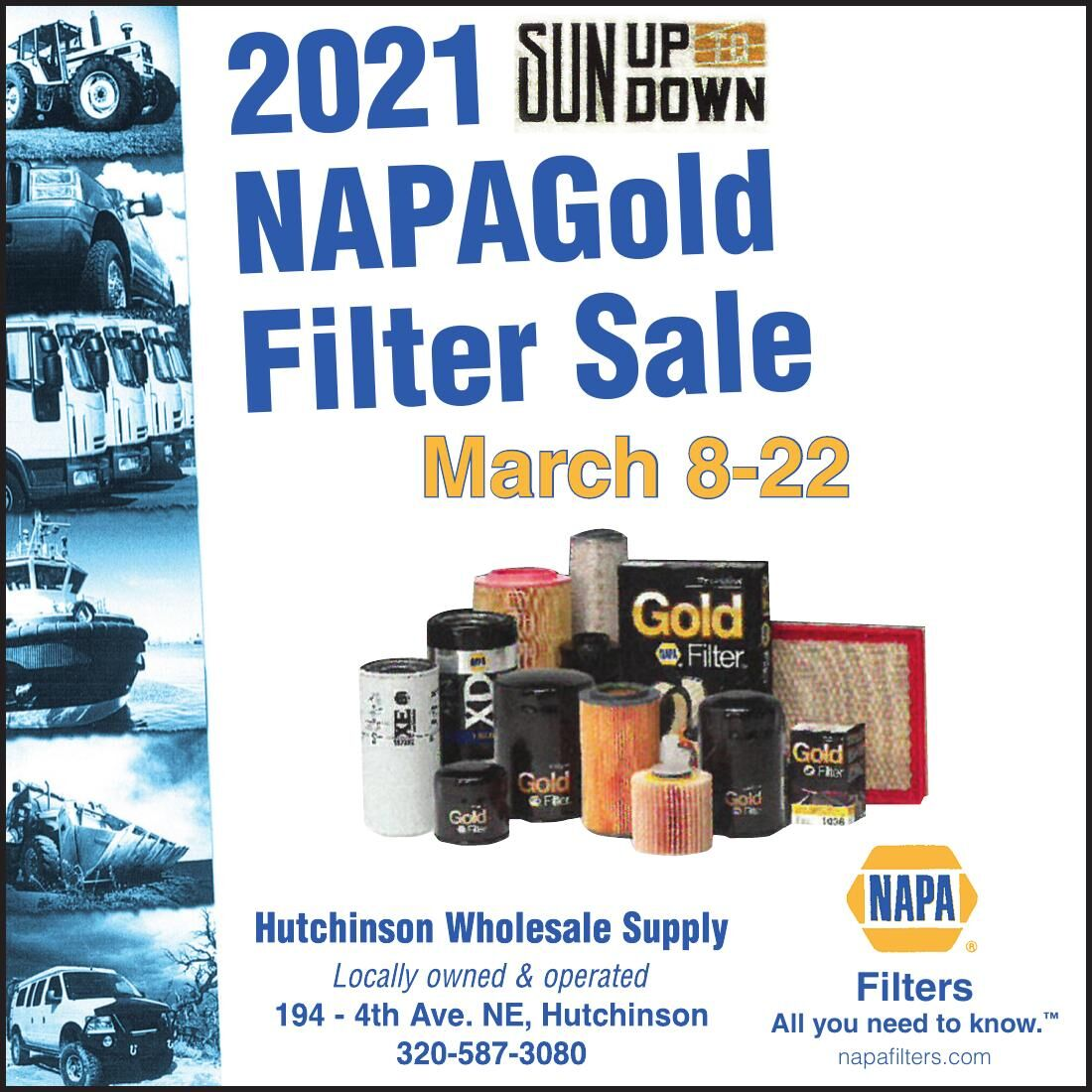 2021 NAPAGold Filter Sale March 8-22