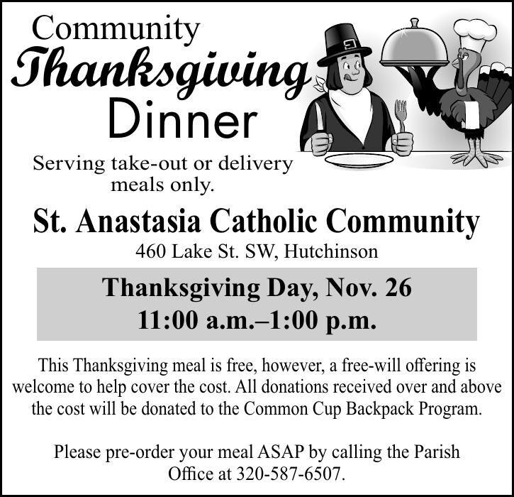 Community Thanksgiving Dinner Serving