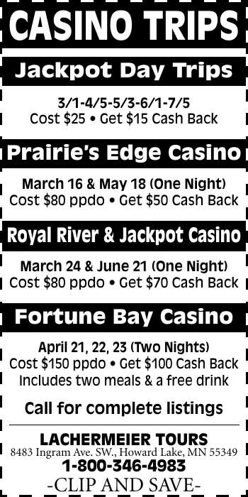 CASINO TRIPS Jackpot Day Trips