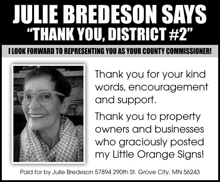 """Julie Bredeson says """"Thank you,"""
