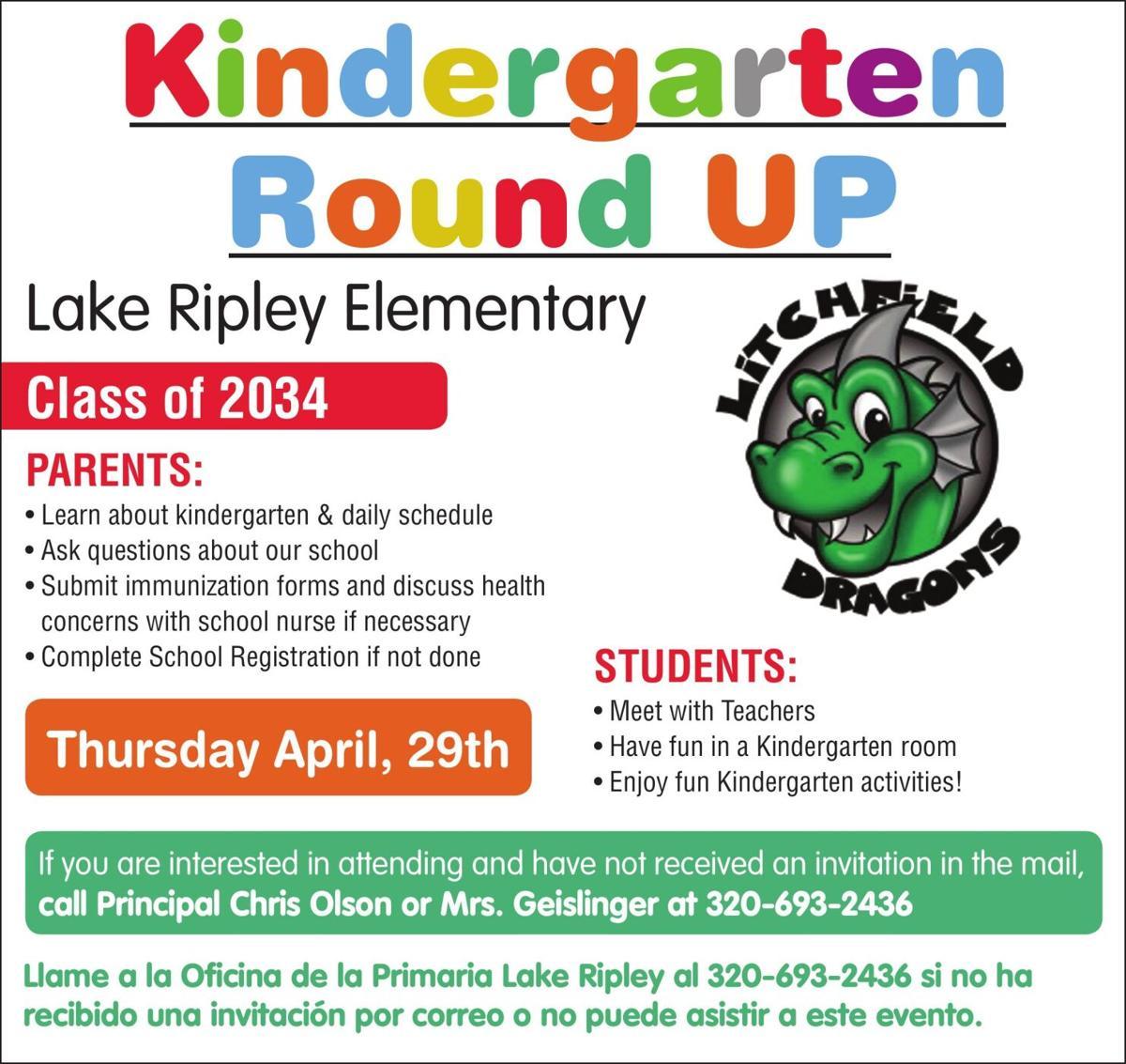 Kindergarten Round UP Lake Ripley