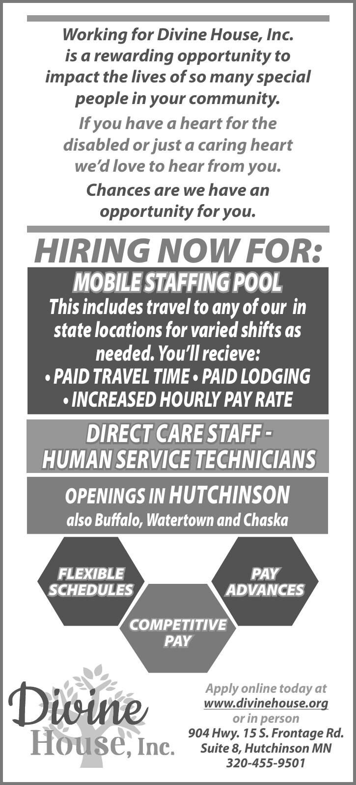 Human Service Techs / Mobile Staffing Pool