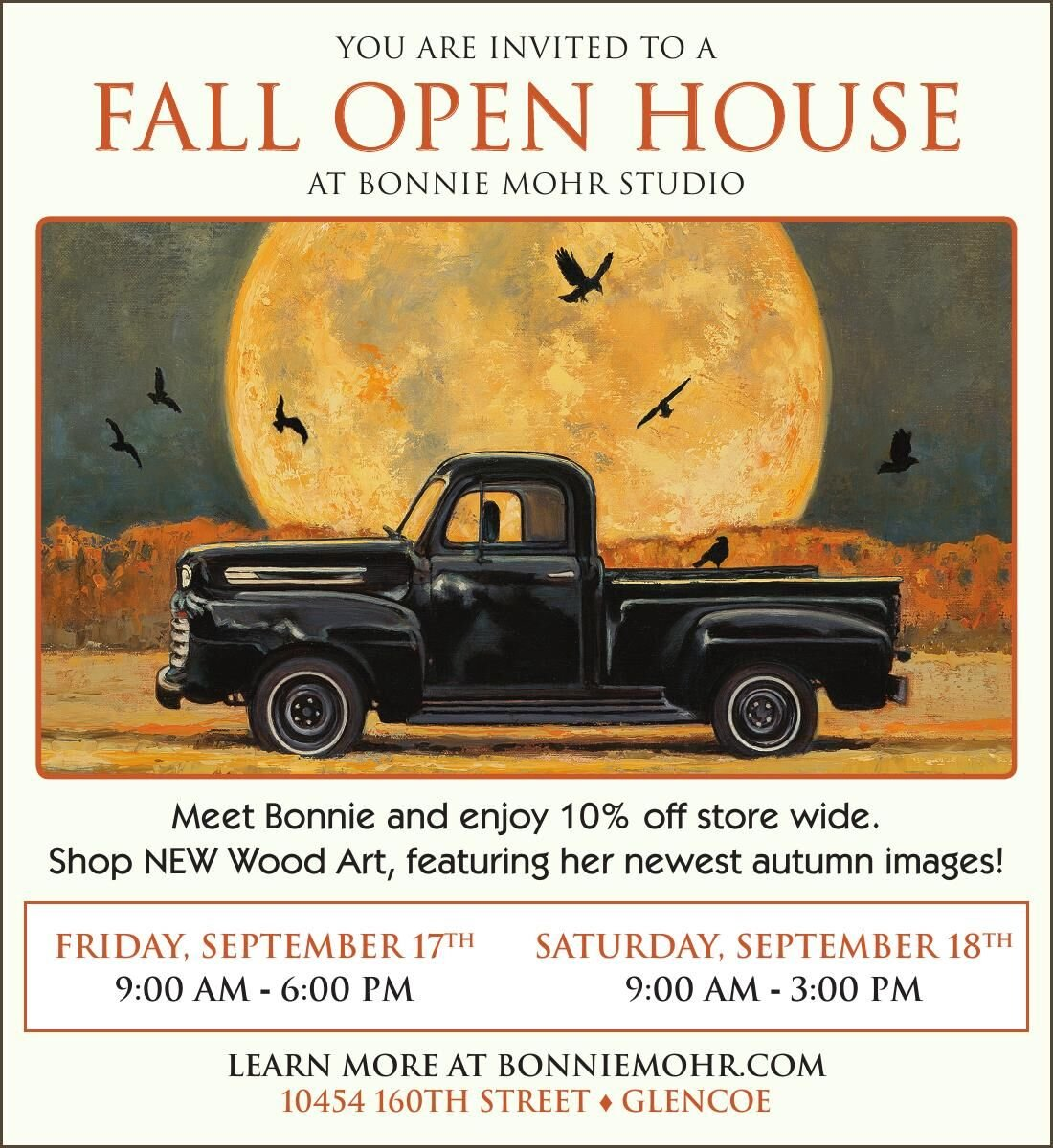 YOU ARE INVITED TO A FAll OpEN HOUSE AT