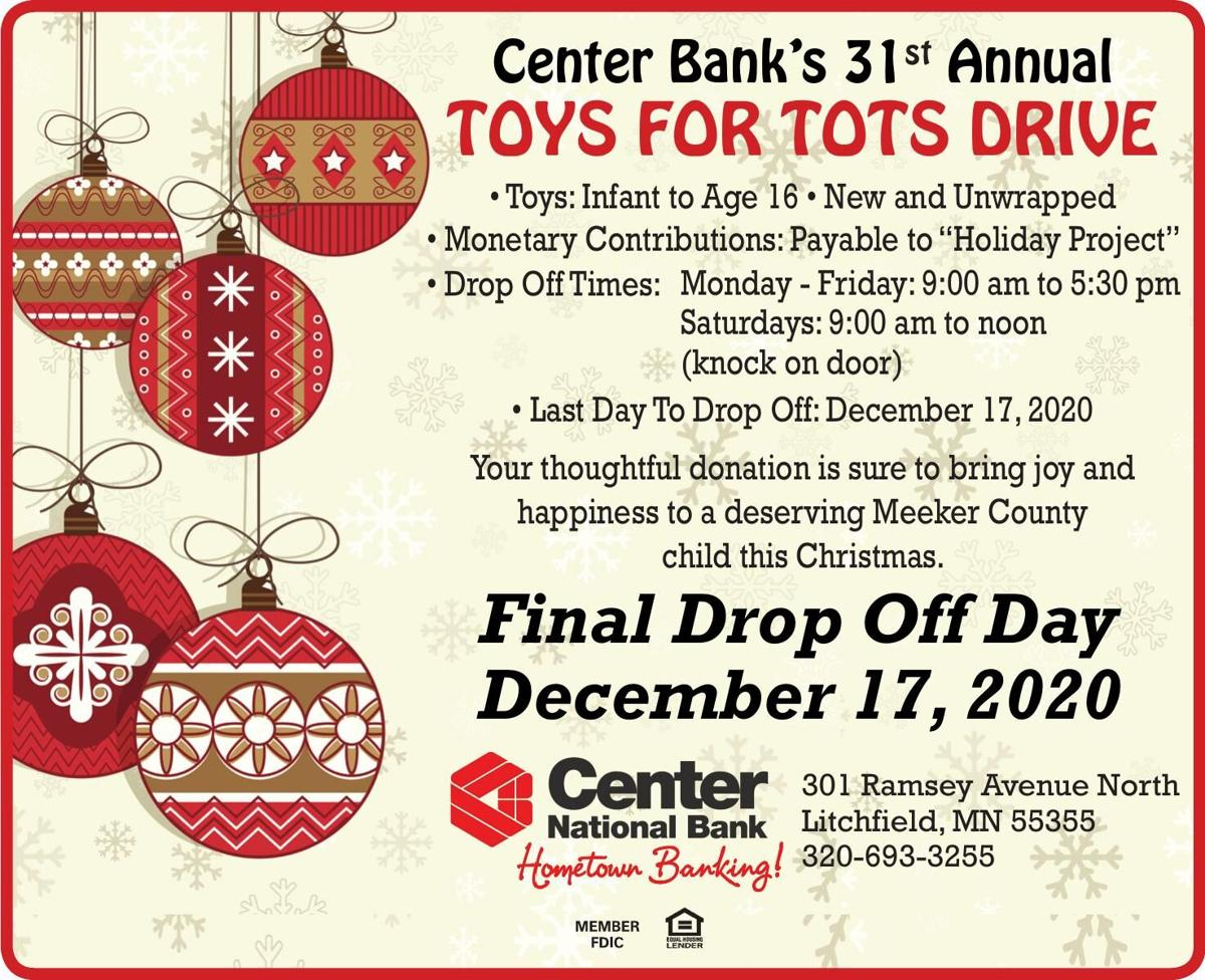 Center Bank's 31st Annual TOYS FOR