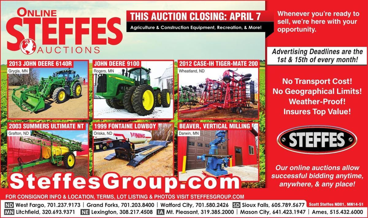 THIS AUCTION CLOSING: APRIL 7