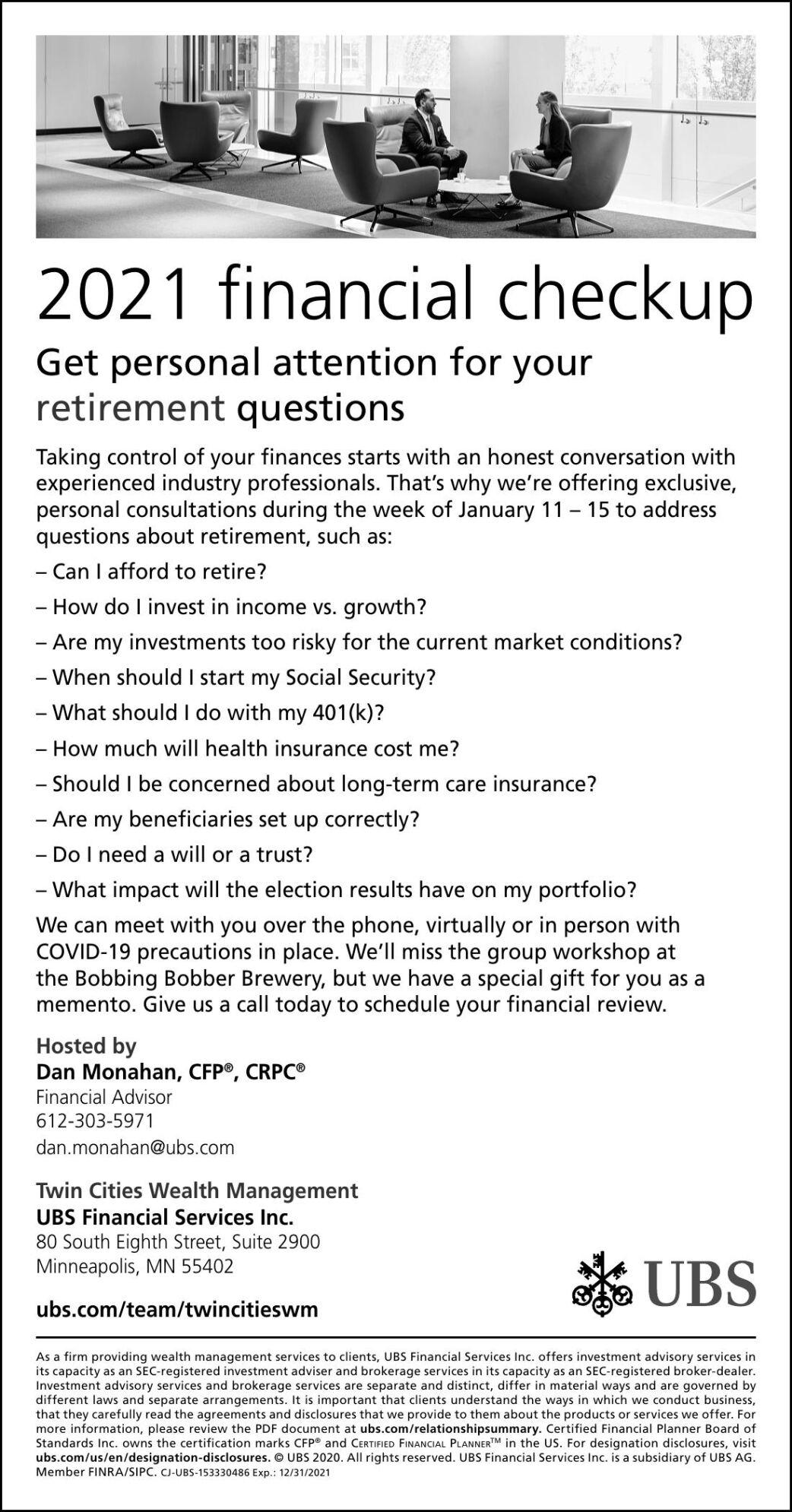 2021 financial checkup Get personal