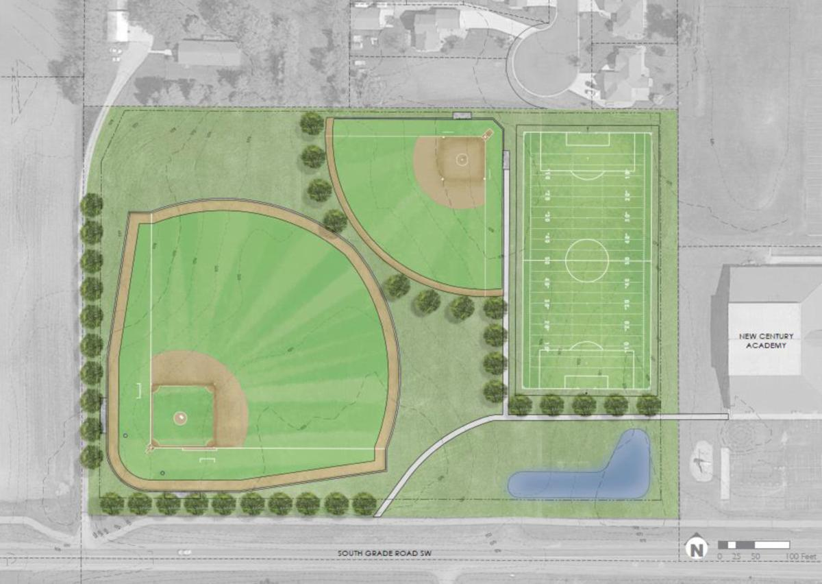 New Century Academy Sports Field Rendering Option 2