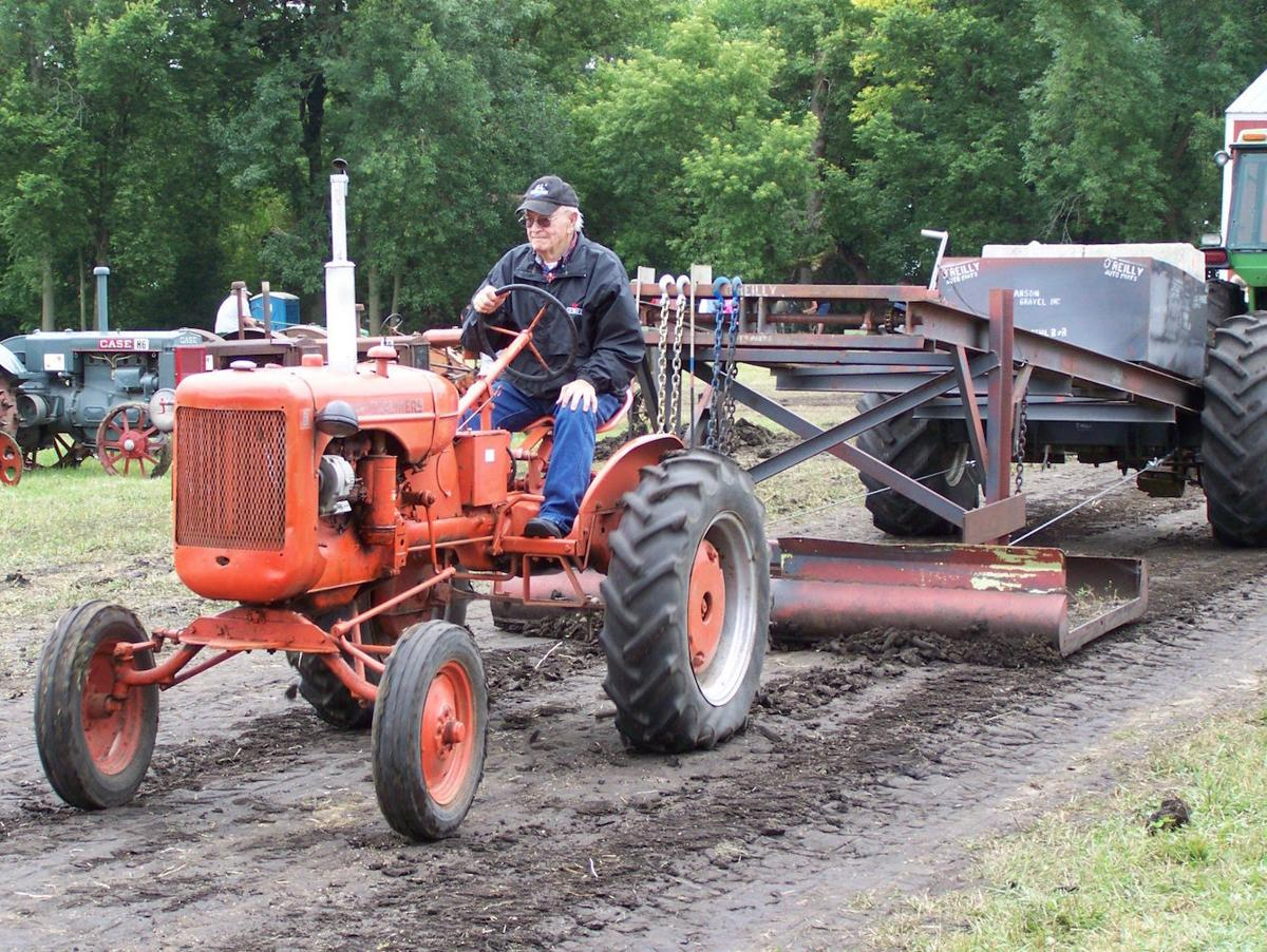 Lowell Peterson and his tractor