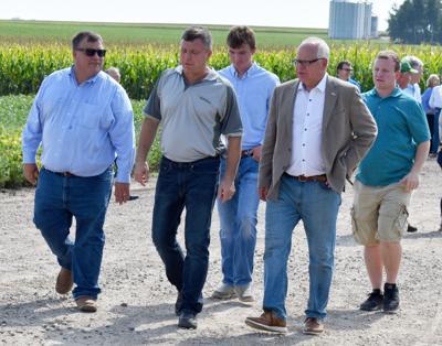 Walz visits Thalmann farm