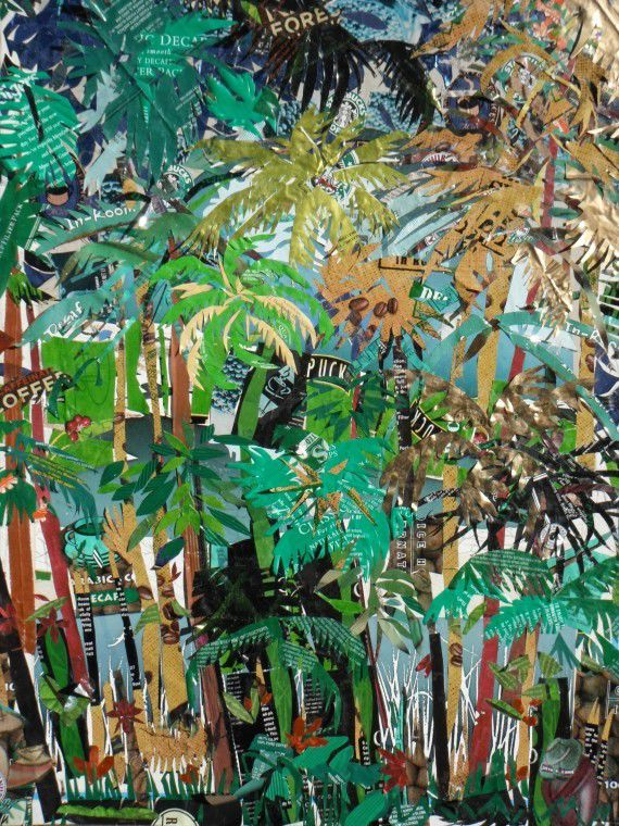 """Rain Forest"" collage by Joyce Young of Hutchinson"