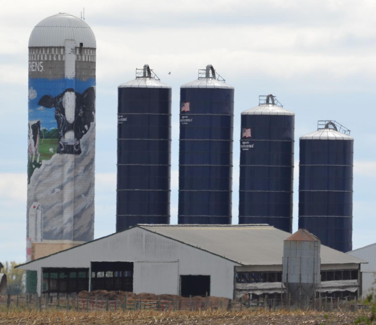 Sykview Dairy mural from Highway 7