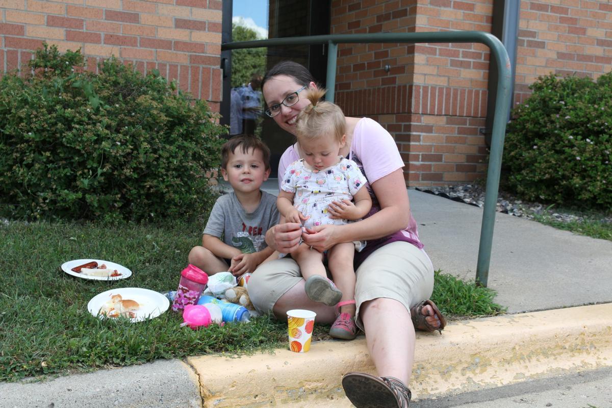 Katie Frie with kids