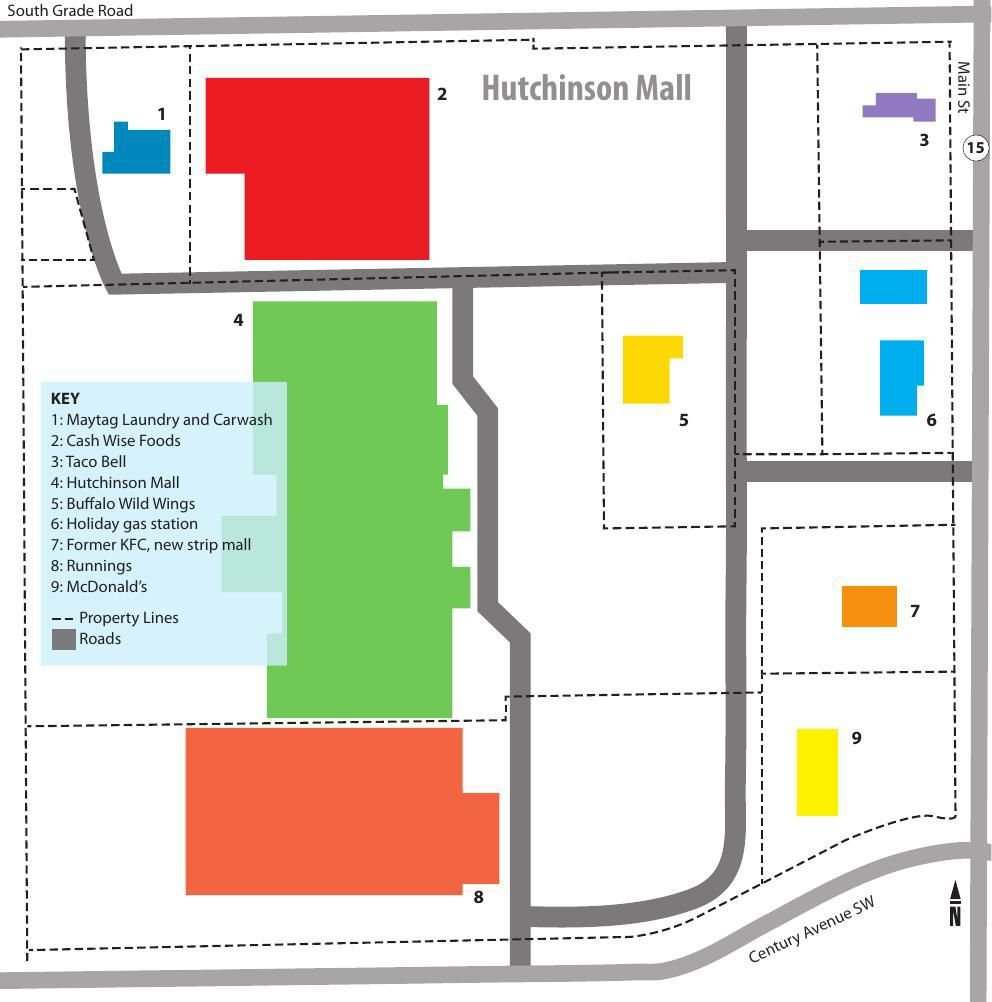 Hutchinson Mall diagram
