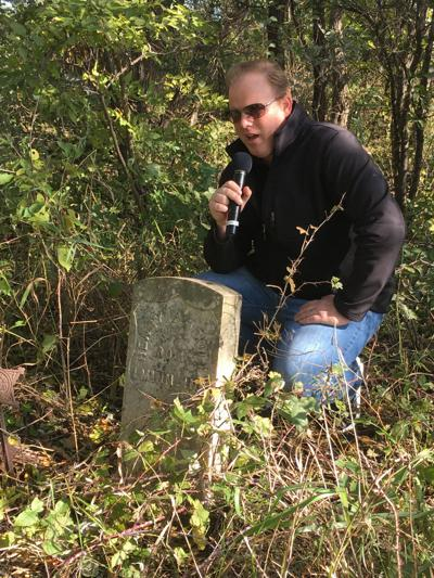 Brian Haines at Getchell Cemetery