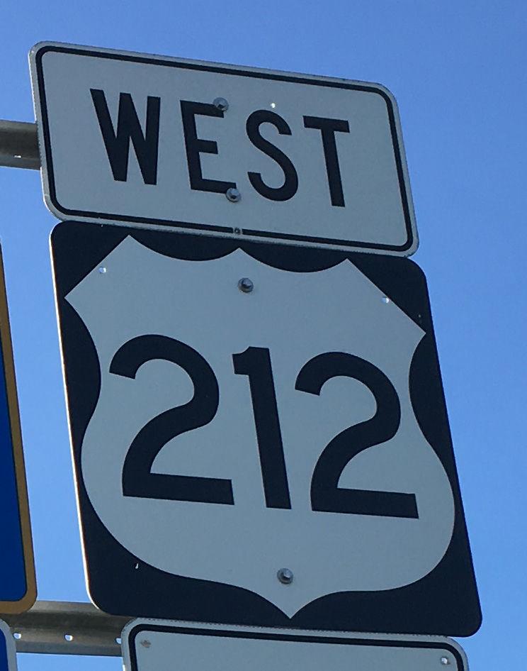 U.S. Highway 212 sign