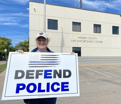 Defend police sign