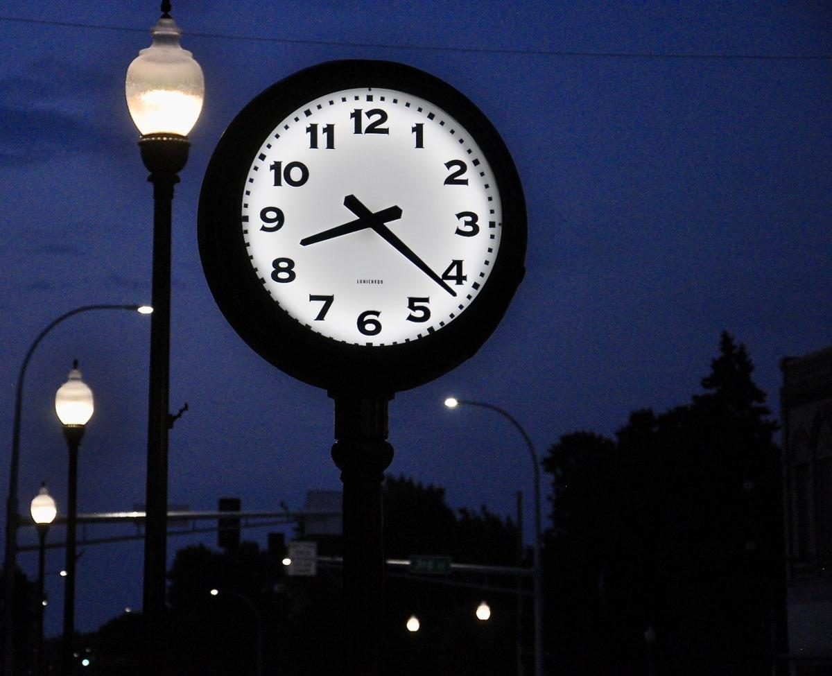 Clock lights the way