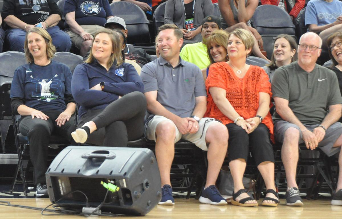 Lindsay Whalen and family