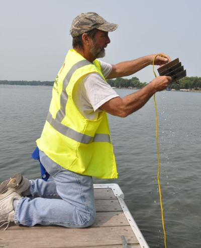Checking for zebra mussels