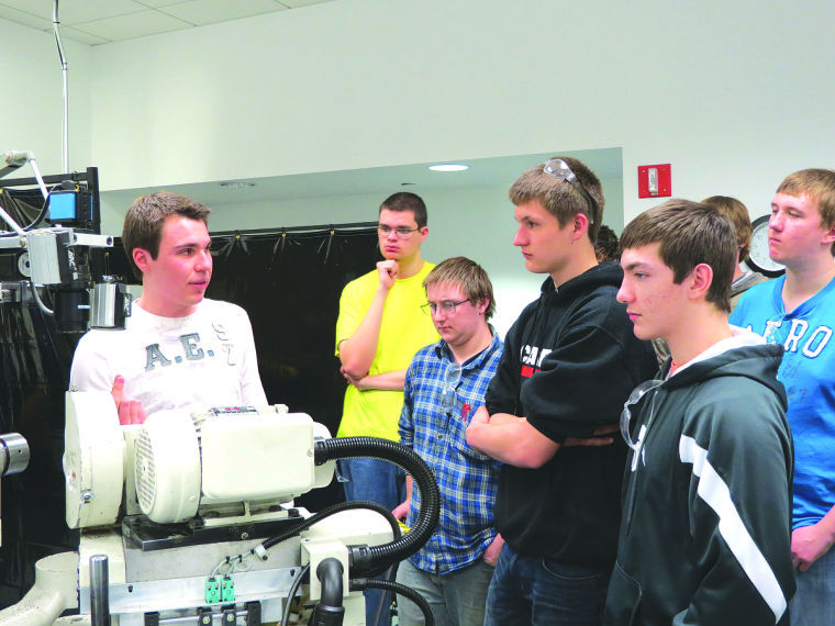 Area high school students visit Midwest Industrial Tool Grinding Inc. in Hutchinson