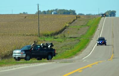Law enforcement along County Road 11