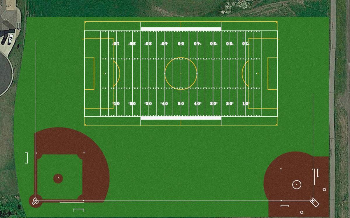 New Century Academy Sports Field Rendering