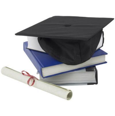 Graduation hat, diploma