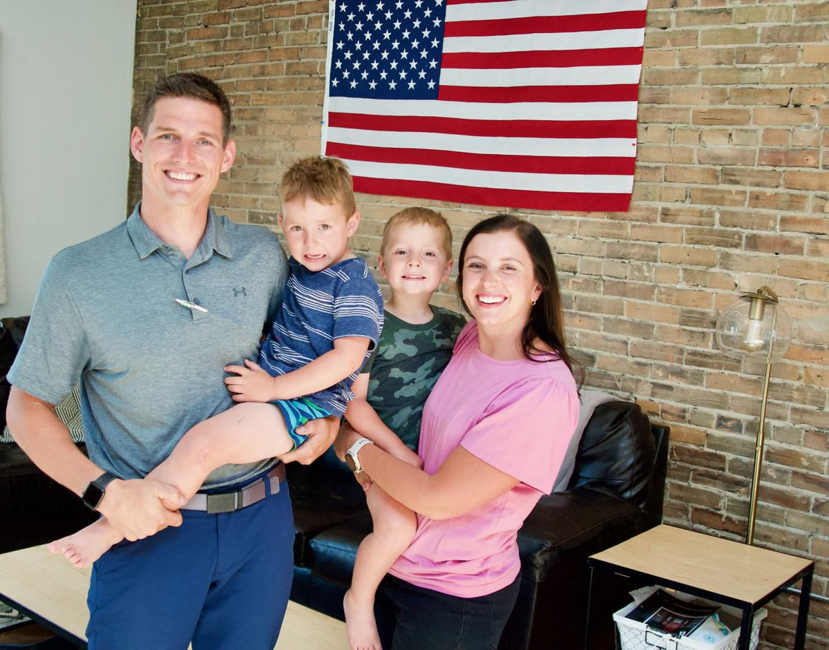 Frank and Brittany Koch and sons
