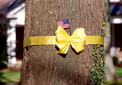 Yellow ribbon art