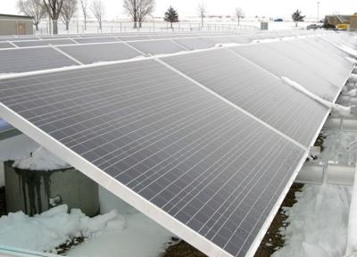 Solar array's panels up close
