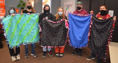NCA students donate blankets
