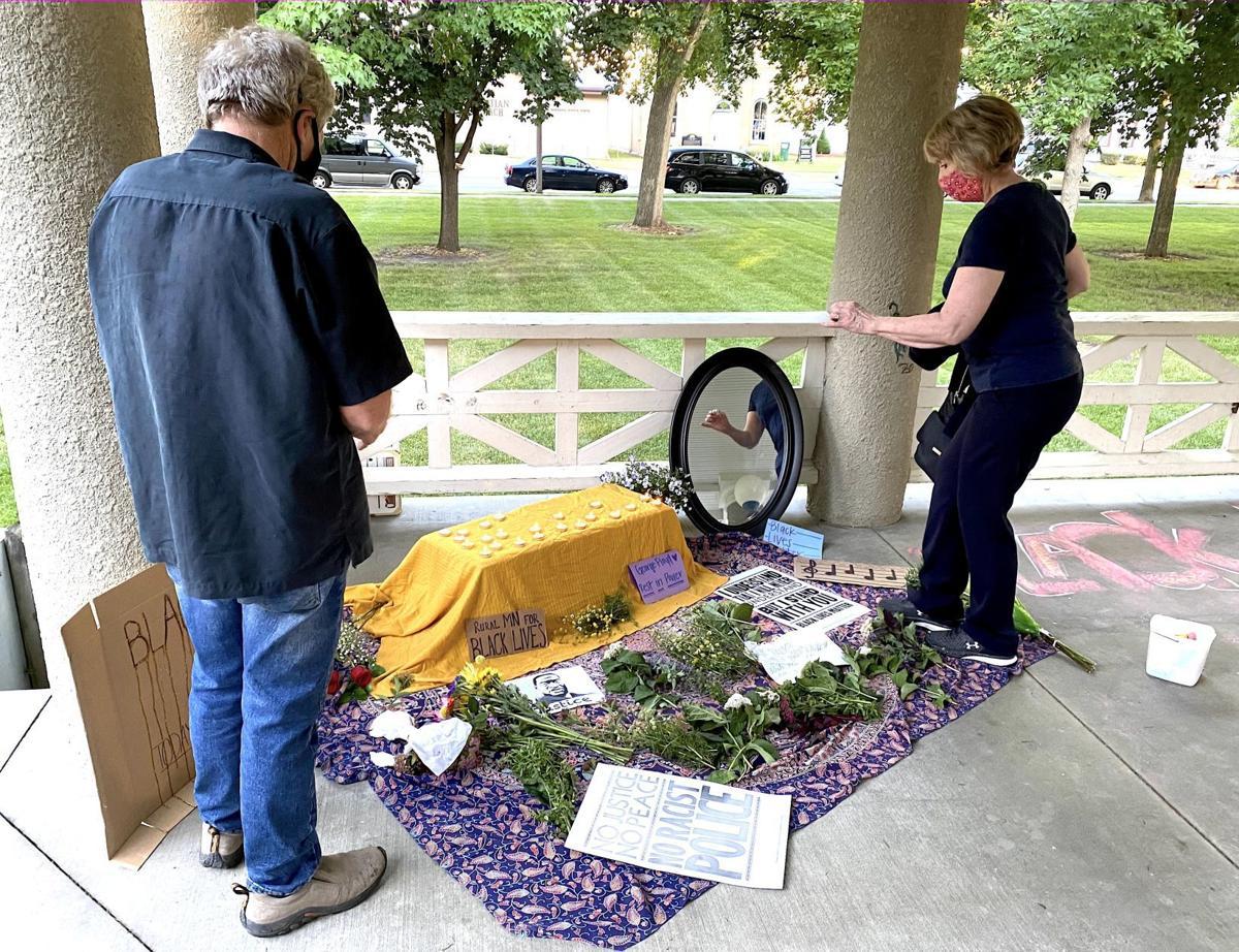 Visiting a memorial