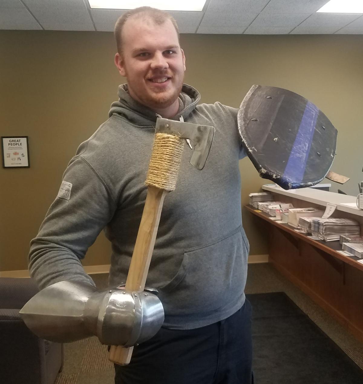 Moe with an axe