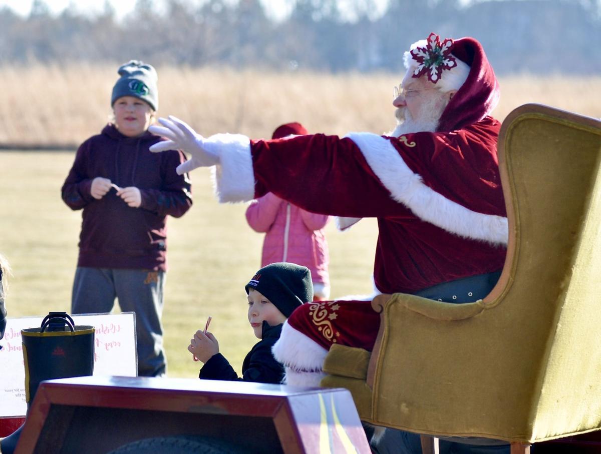 Santa at Prairie Park