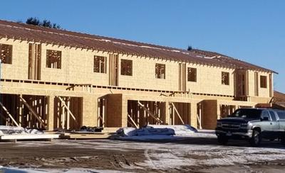 New town homes are under construction in Litchfield
