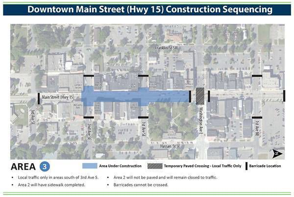 Stage 3: State Highway 15/Main Street reconstruction