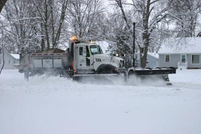 Plowing snow in Hutchinson