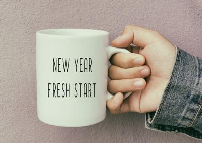 New Year Fresh Start cup
