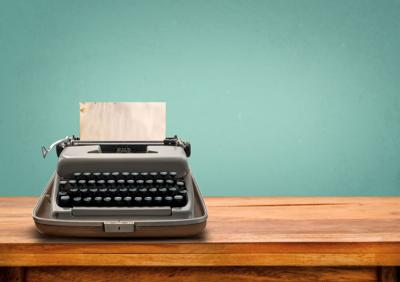 Vintage,Typewriter,With,Old,Paper.,Retro,Machine,Technology, letter, writer, editor