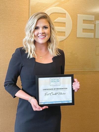 ENT Credit union mental health awareness award