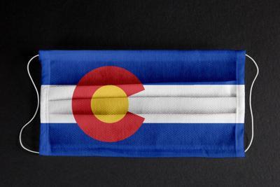 Colorado flag mask