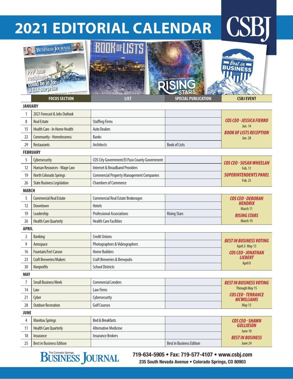 2021 CSBJ Editorial Calendar