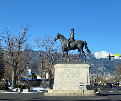 General Palmer statue downtown Colorado Springs