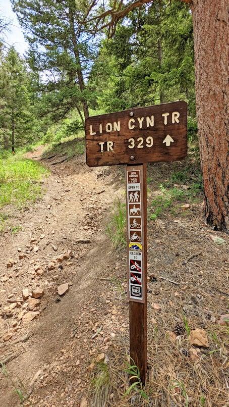 Lion Canyon Trailhead sign