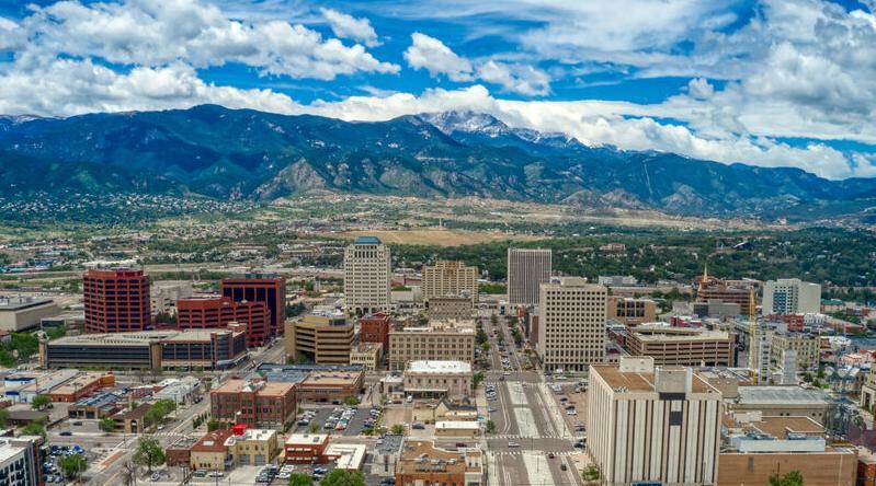 Colorado Springs, city, panorama, springs, local, pikes peak, rocky mountains