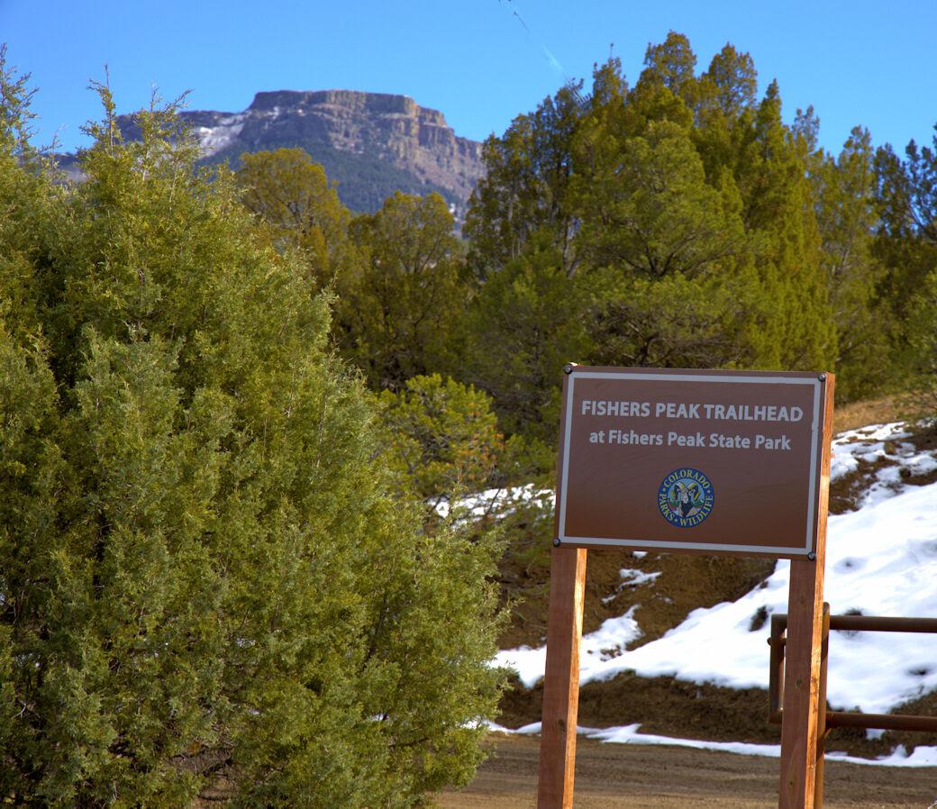 Fishers Peak entrance