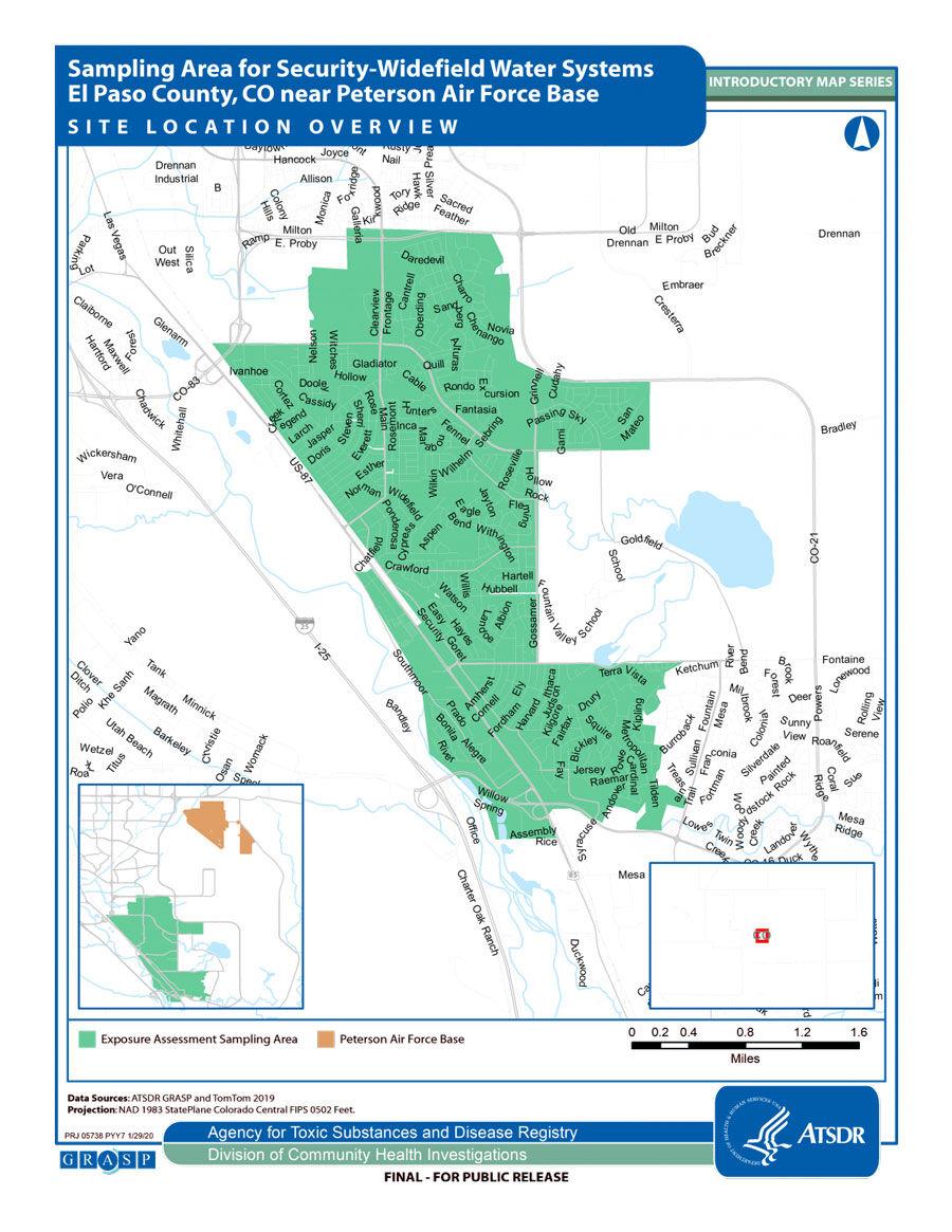 ATSDR contamination assessment area