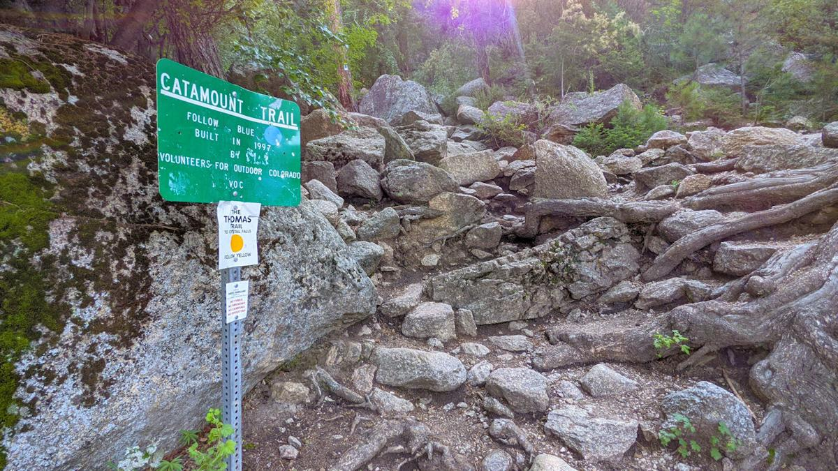 Catamount Trail sign
