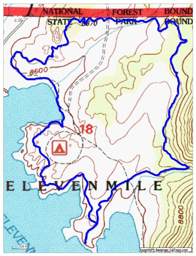 Eleven Mile 4 mile loop