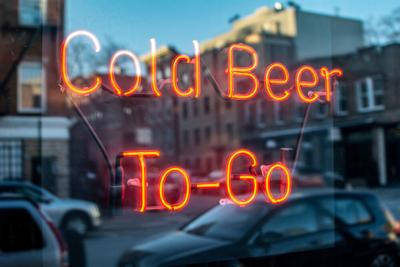 beer, to-go, alcohol, bar, drinks, booze, neon, sign